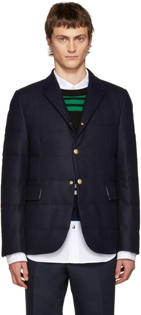 Thom Browne Gamme Bleu Wool Quilted Down Blazer Size US XS / EU 42 / 0 - 5