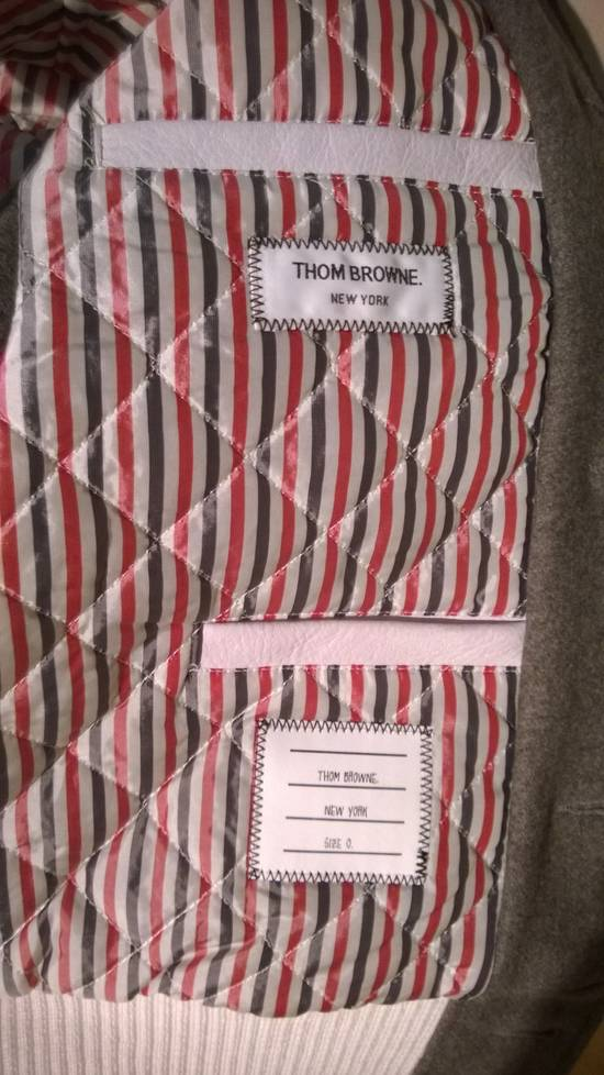 Thom Browne Size 0 New Wool Leather Varsity Bomber Size US XS / EU 42 / 0 - 5