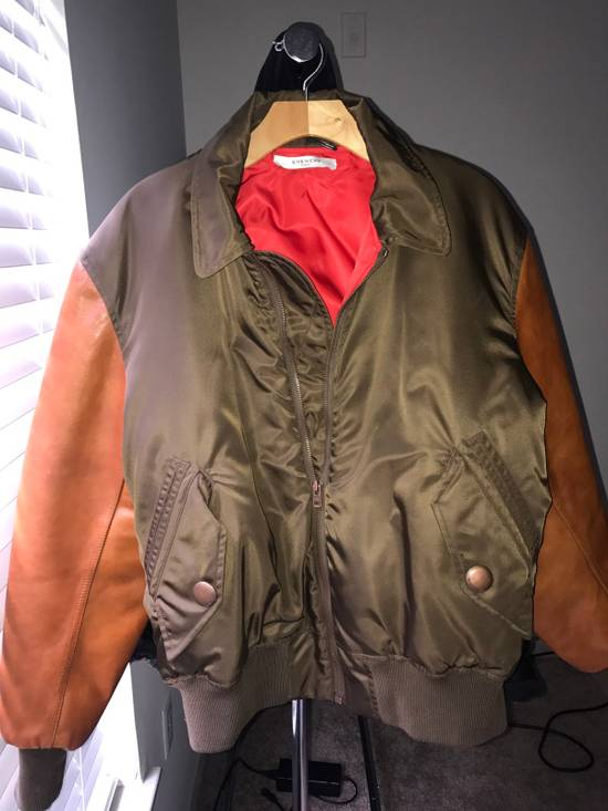 Givenchy Givenchy Auburn/Olive Leather Bomber W Red Satin Inside Size US M / EU 48-50 / 2