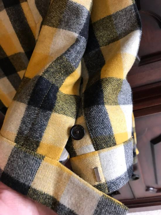 Thom Browne Black Fleece Yellow Plaid Trousers In Thick Wool Size US 30 / EU 46 - 4