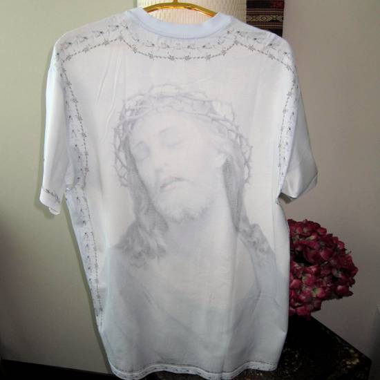 Givenchy GIVENCHY Jesus Cotton Jersey T-Shirt Columbian Fit 100% AUTHENTIC with Receipt! Size US S / EU 44-46 / 1 - 6