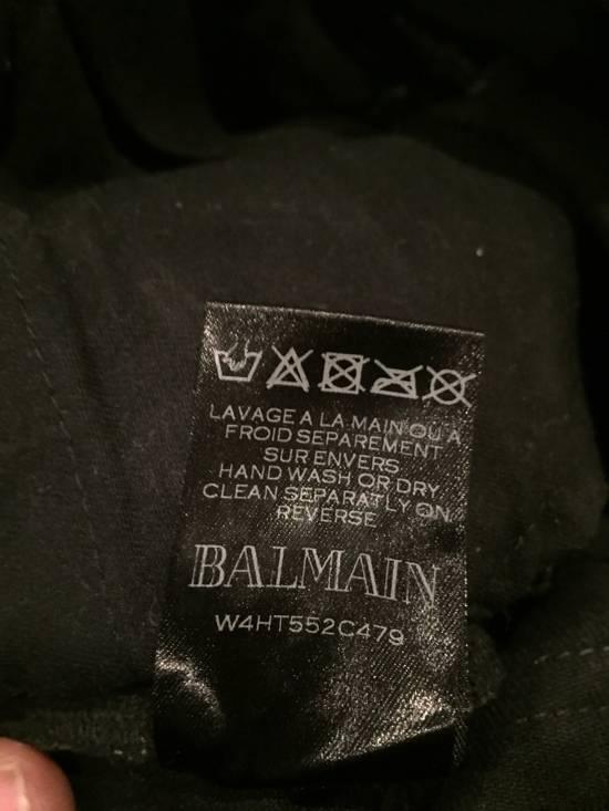 Balmain Cargo Biker Denim 'waxed black' Size US 29 - 2