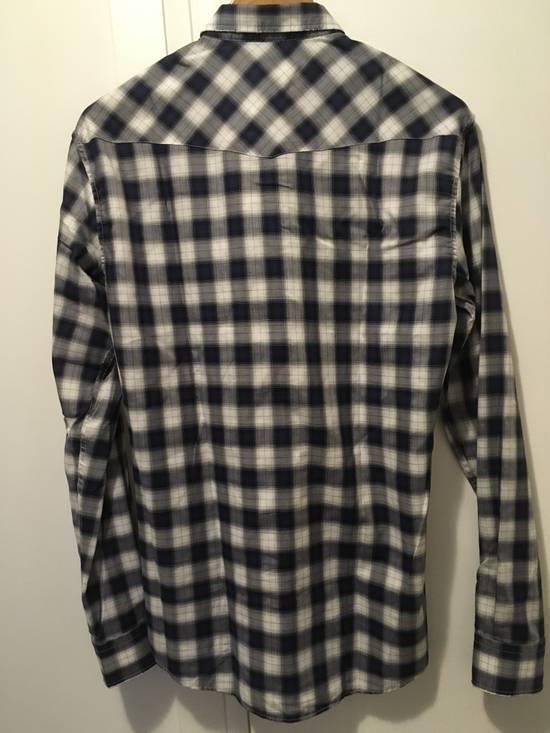 Balmain AW10 Shadow Plaid Western Shirt Size US S / EU 44-46 / 1 - 4