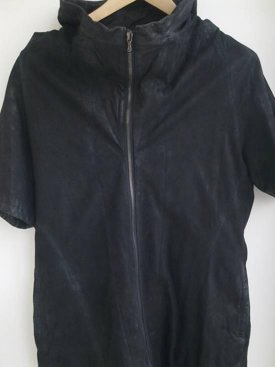 Julius Lamb Nubuck Leather Short Sleeve Jacket Size US L / EU 52-54 / 3 - 4
