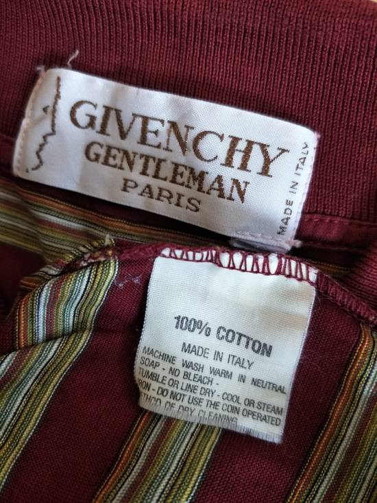 Givenchy France Designer / Vtg Classic Givenchy Gentleman Paris GC / Stripe Pocket Polo Shirt / Embroidered Logo / Made In Italy / Excellent Condition / Small Size Size US S / EU 44-46 / 1 - 1