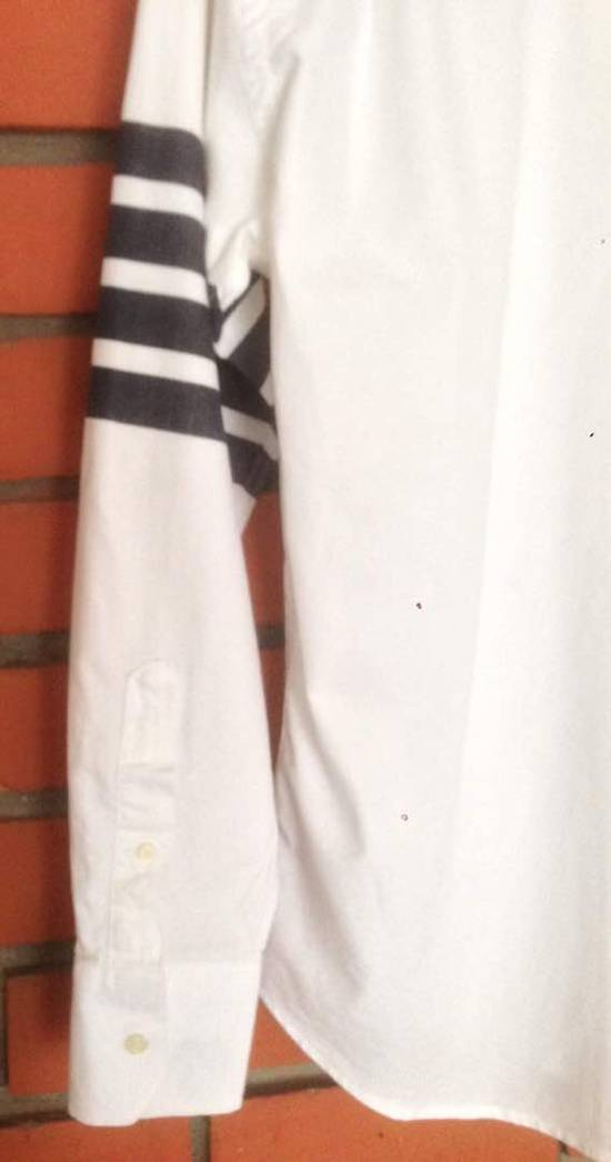 Thom Browne Nice Item !! White Stripe Left Side Thom Browne Button Up Size US M / EU 48-50 / 2 - 4
