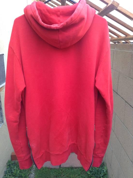 Balmain Red Crest Side Zip Hoodie Size US XL / EU 56 / 4 - 1