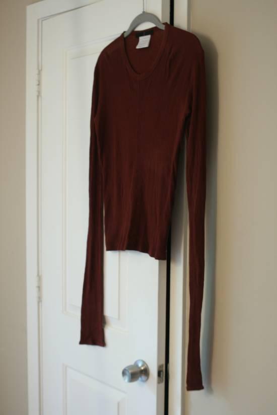 Julius FW08 Blood Red Cotton/Cashmere Rib L/S Size US S / EU 44-46 / 1