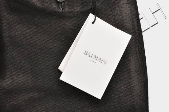 Balmain 1265$ Skinny Coated Stretch Denim Biker Jeans Size US 27 - 10