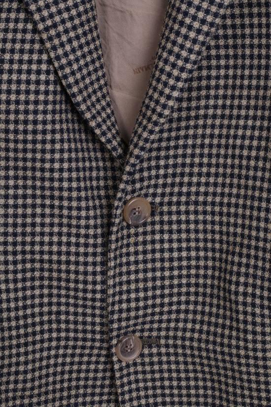 Balmain Pierre Balmain Paris El Corte Ingles Mens 56 L Blazer Top Suit Check Wool Brown 9933 Size 42R - 2
