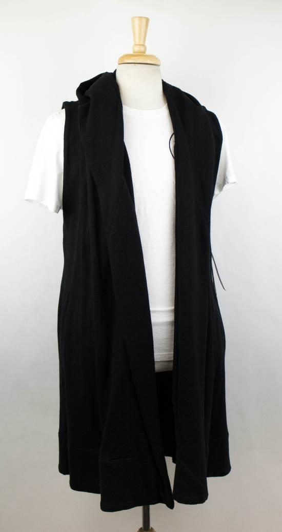 Julius Men's Black Cotton 'Sleeveless Long Coat' Vest Size 0/2XS Size US XS / EU 42 / 0 - 2