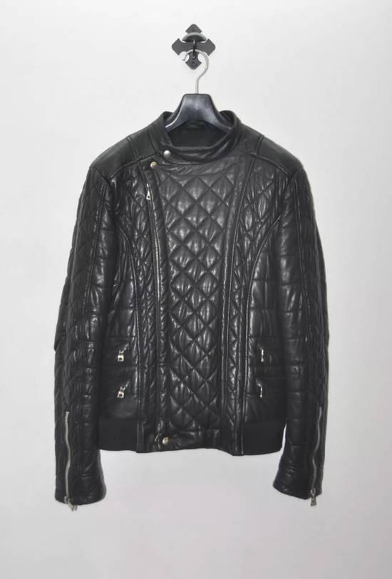 Balmain Quilted Biker Leather Jacket Size US S / EU 44-46 / 1