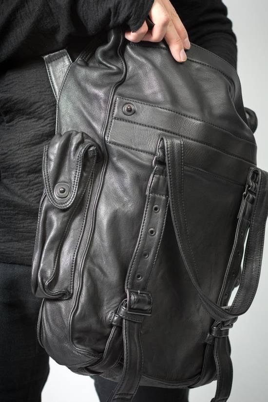 Julius AW09 Black Leather Satchel/Messenger/Shoulder/Tote Bag Size ONE SIZE