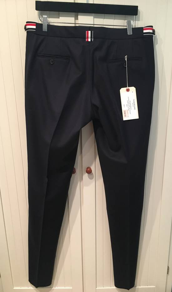 Thom Browne Side Tab Skinny Pants in Navy Twill Wool Size US 36 / EU 52 - 3