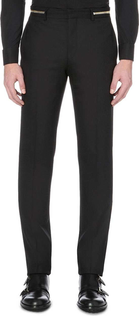 Givenchy Givenchy Black Wool Dress Tailored Pants Zip Detail Zipper Size 52 Brand New Trousers Size 52R