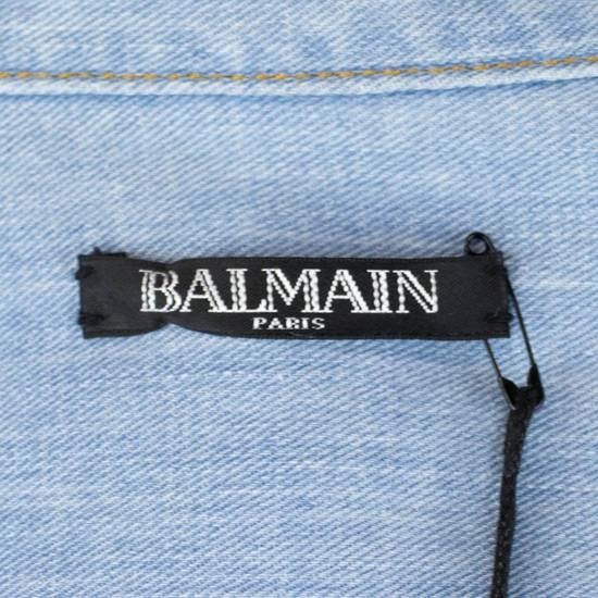 Balmain Denim Embroidered Button Down Casual Shirt Size 16 US 41 EU Size US M / EU 48-50 / 2 - 7
