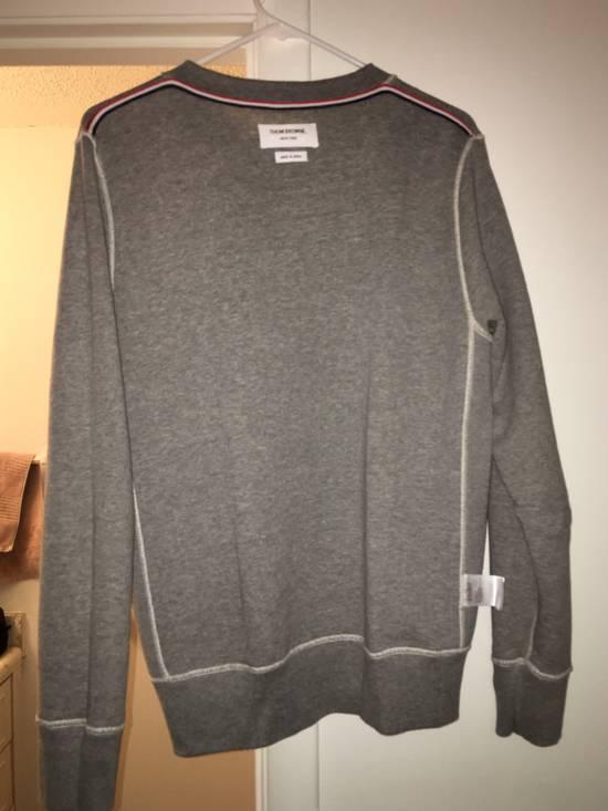 Thom Browne Grey Contrast Sweatshirt Size US L / EU 52-54 / 3 - 4