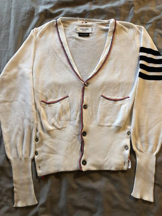 Thom Browne Thom Browne White Knit Cardigan Size US S / EU 44-46 / 1 - 2