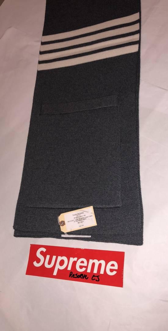 Thom Browne Thom Browne Pocket Scarf Grey Size ONE SIZE - 2