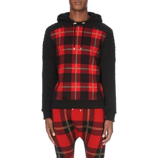 Balmain Tartan hooded sweatshirt Size US XL / EU 56 / 4 - 8
