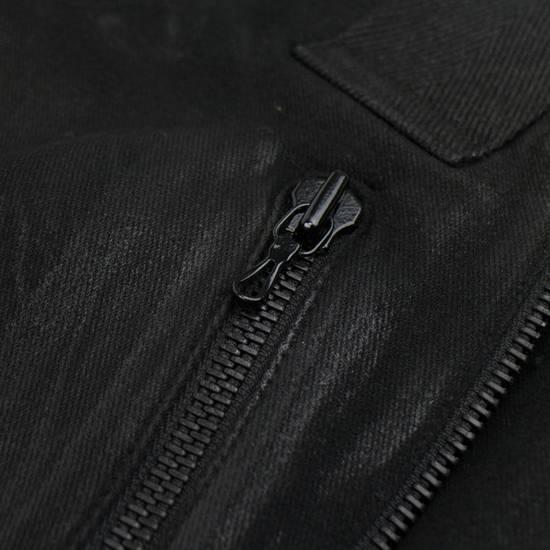 Julius 7 Black 'Coated Denim Stretch Zip Pocket' Baggy Jeans Pants 3/M Size US 34 / EU 50 - 5