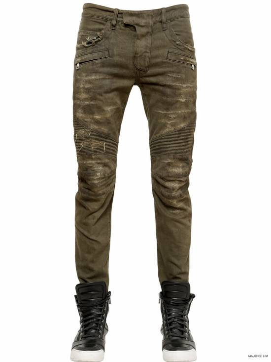 Balmain NEW Denim Biker Destroyed Size US 29