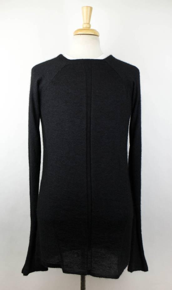 Julius 7 Black Silk-Mohair 'Square Neck Panelled' Sweater Size 1/XS Size US XS / EU 42 / 0