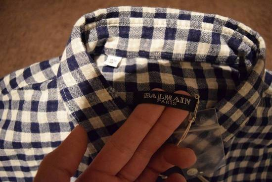 Balmain Balmain Paris $670 Authentic Men's Checkered Shirt Size 39 Brand New Size US L / EU 52-54 / 3 - 2