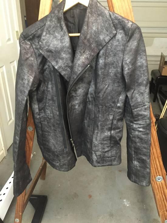Julius FW07 Black/Silver Coated Cotton Jacket Size US M / EU 48-50 / 2