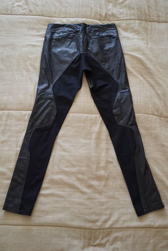 Julius Knee Paneled Leather Biker Pants Size US 30 / EU 46 - 3