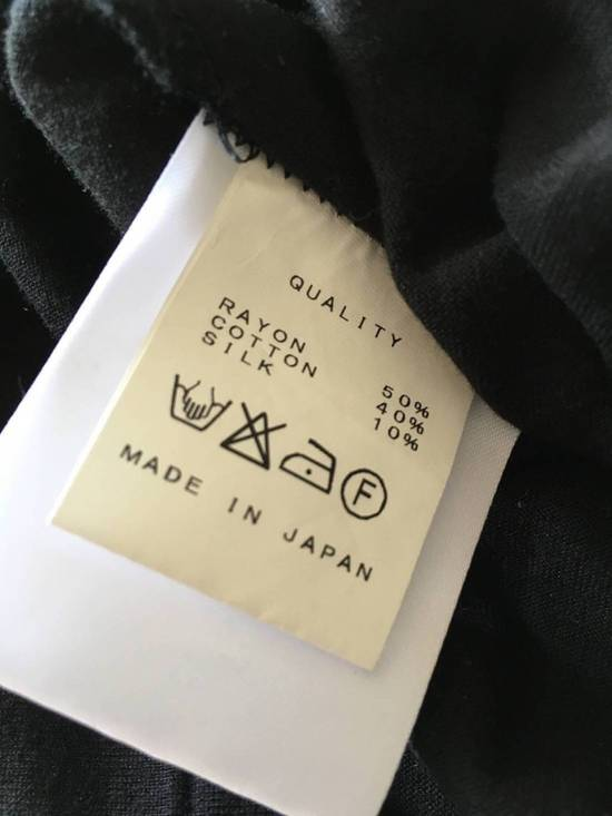 Julius Japan made black printed silk and cotton jersey longline tshirt Size US M / EU 48-50 / 2 - 10