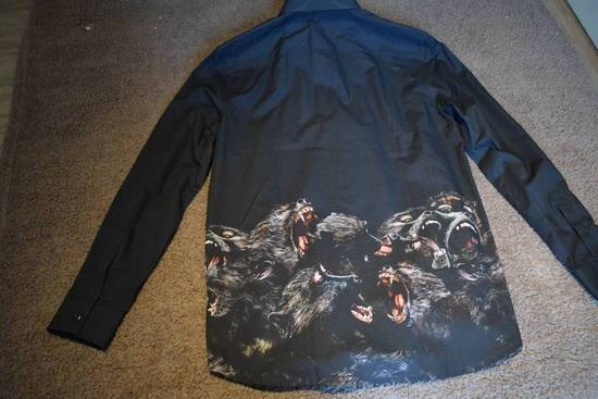Givenchy Givenchy Authentic $890 Monkey Print Black Shirt Size 40 Brand New With Tags Size US L / EU 52-54 / 3 - 4