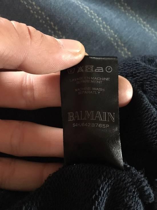 Balmain Navy Pullover Dual Zippers/Shoulder Patches Size US L / EU 52-54 / 3 - 3