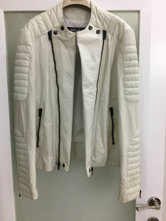 Balmain Balmain White Leather Biker Jacket Size US M / EU 48-50 / 2