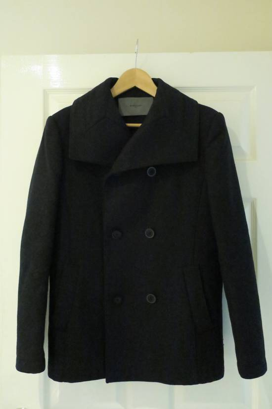 Givenchy BLACK WOOL DOUBLE BREASTED PEA COAT Size US M / EU 48-50 / 2 - 4