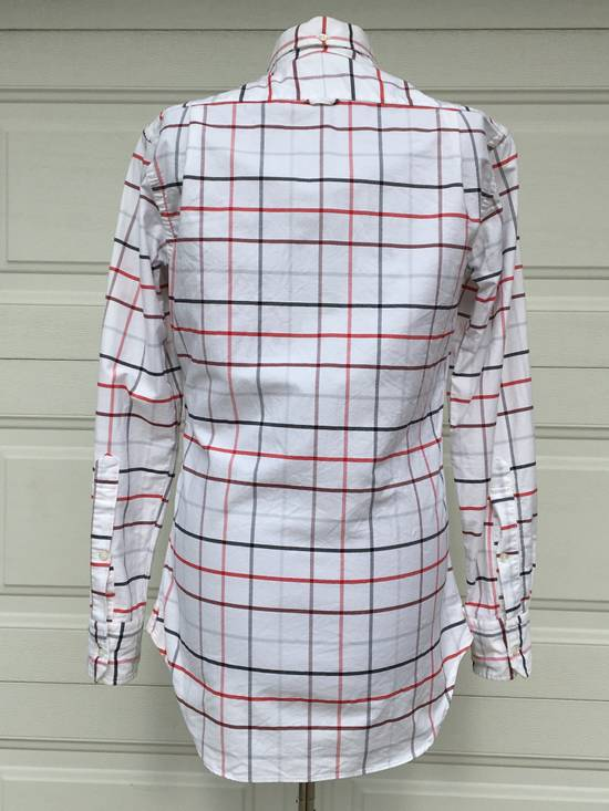Thom Browne Red/Blue Windowpane Oxford Shirt L/S Size US S / EU 44-46 / 1 - 4