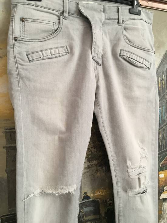 Balmain Stone grey Balmain ripped jeans Size US 33 - 4