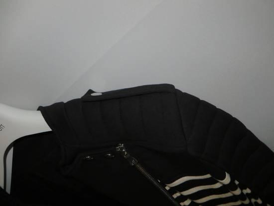 Balmain Stripped cotton biker jacket Size US XXL / EU 58 / 5 - 7