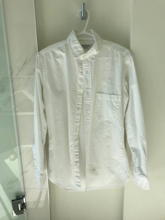 Thom Browne White Poplin Button-Down Size US M / EU 48-50 / 2