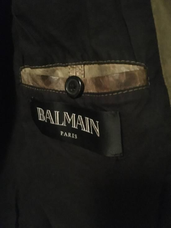 Balmain Decarnin Green Leather Teddy Boy Jacket Size US M / EU 48-50 / 2 - 2