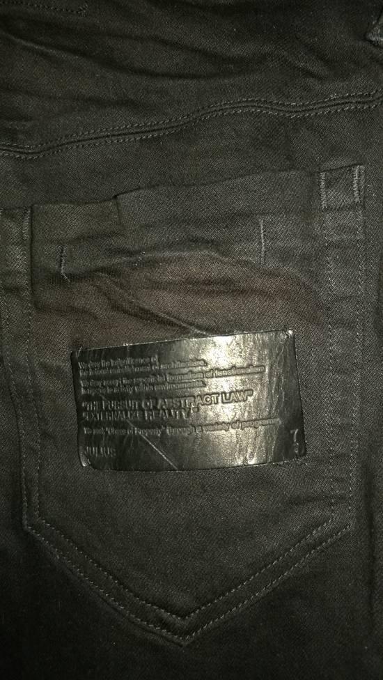 Julius Limited Wrinkle Arch Knee Bottom Zip Biker Jeans Size US 31 - 12