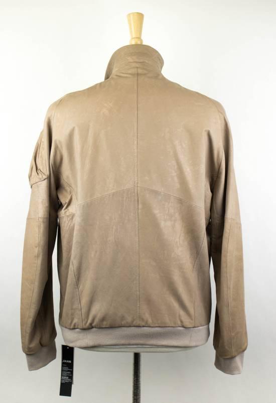 Julius 7 Men's Brown Lamb Skin Leather Zip-Up Jacket Size 3/M Size US M / EU 48-50 / 2 - 3