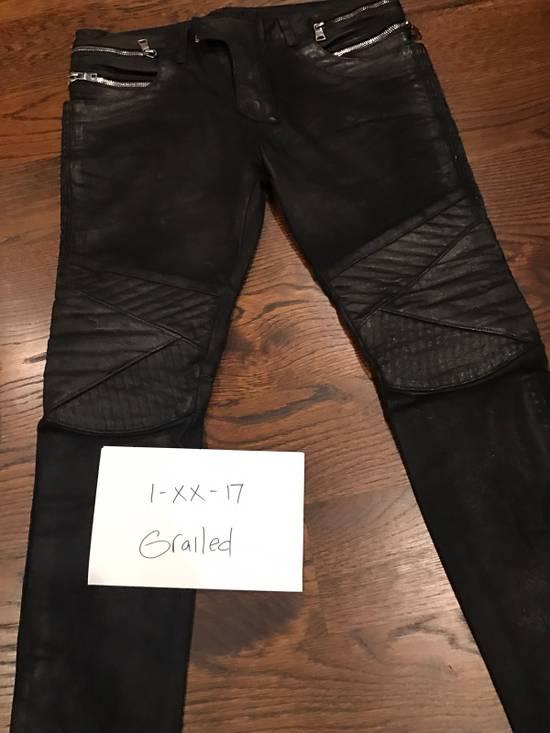 Balmain Balmain Black Waxed Biker Denim Jeans Size US 34 / EU 50 - 4