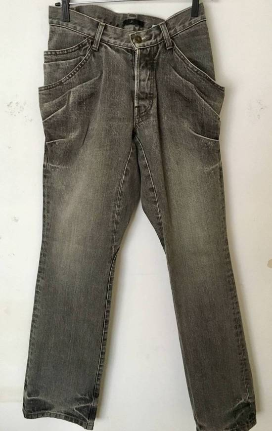 Julius Japan made rugged grey Slouchy distressed Japanese denim jeans Size US 29