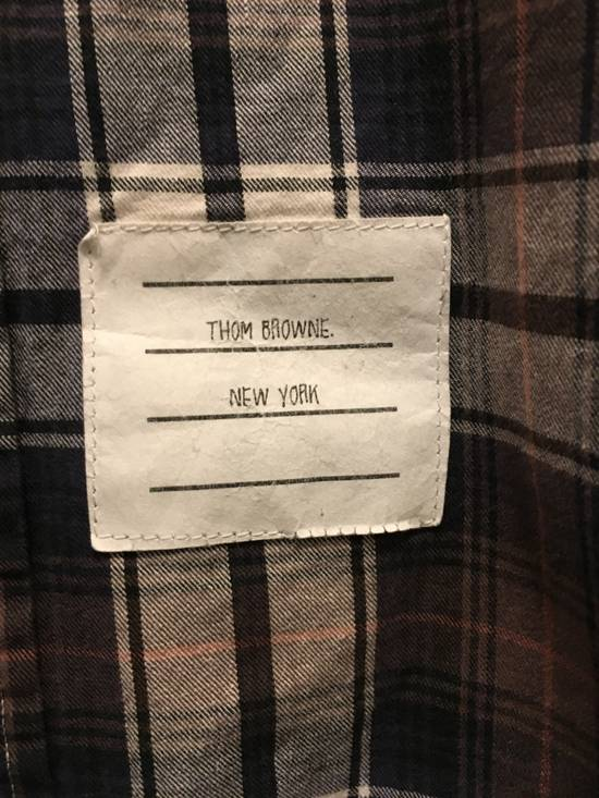 Thom Browne THOM BROWNE CHECK BUTTON DOWN FLANNEL Size US L / EU 52-54 / 3 - 2