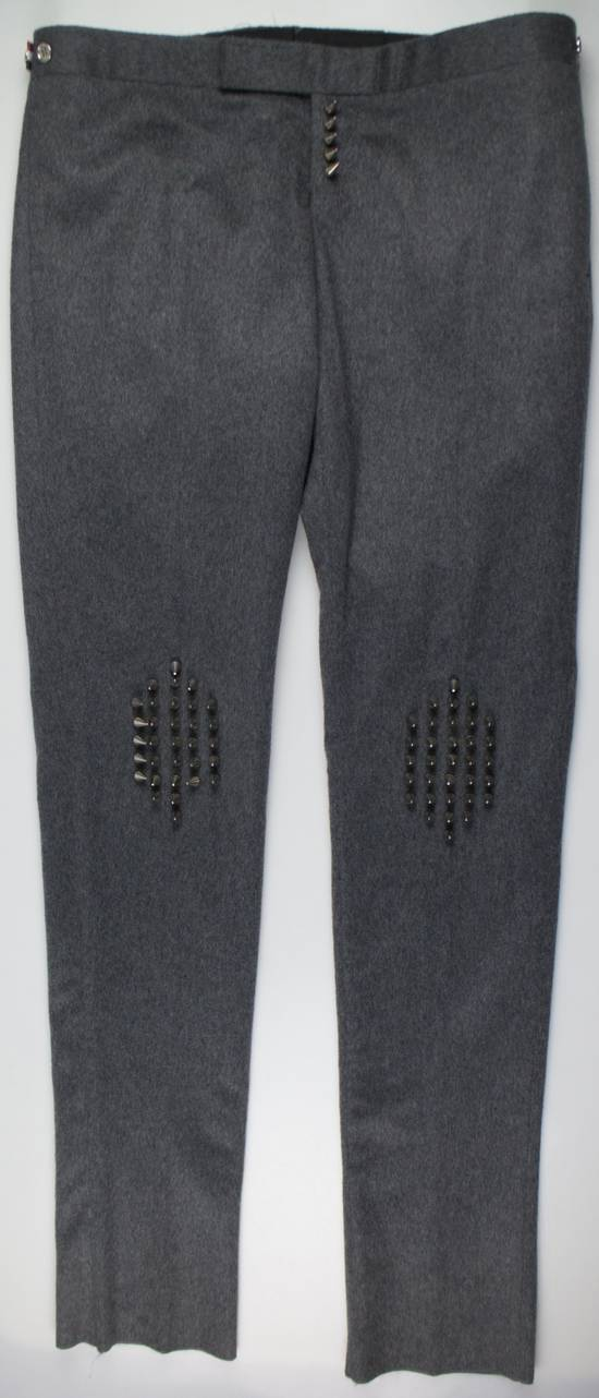 Thom Browne Gray Cashmere W/ Metal Spikes Casual Pants Size US 38 / EU 54 - 1