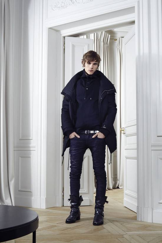 Balmain Balmain Midnight Blue Waxed Embroidered Jeans Size US 27 - 5