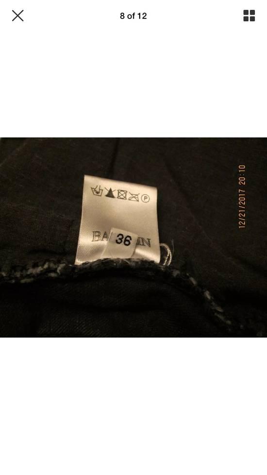 Balmain Beautiful Balmain Grey Denim Biker Jeans Size US 34 / EU 50 - 2