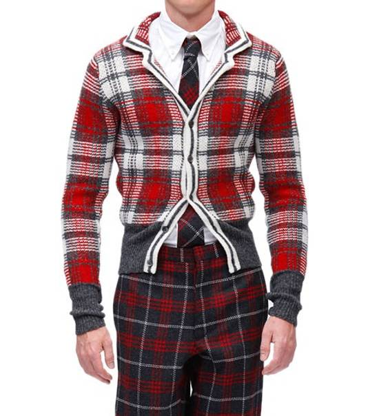 Thom Browne Wool Plaid Cardigan Jacket Size BB3 VERY RARE Size US L / EU 52-54 / 3