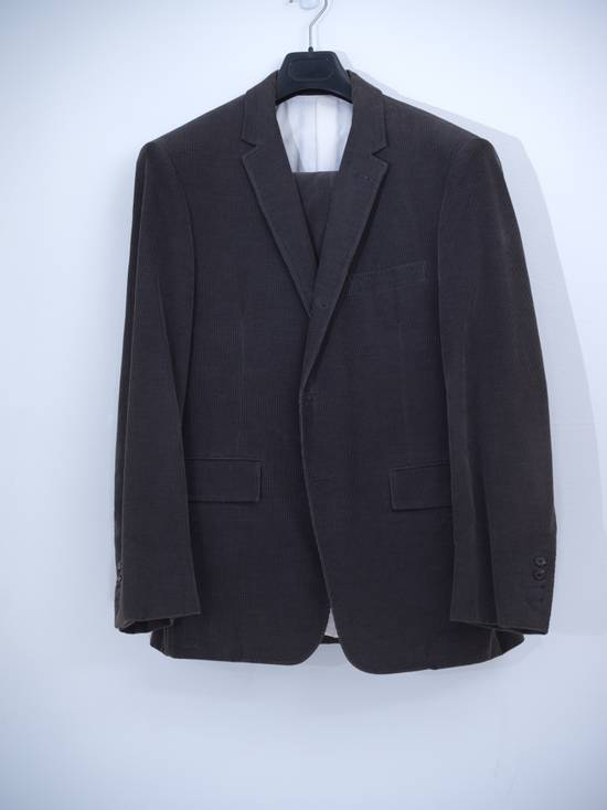 Thom Browne Navy Thin Corduroy Suit Size 38R